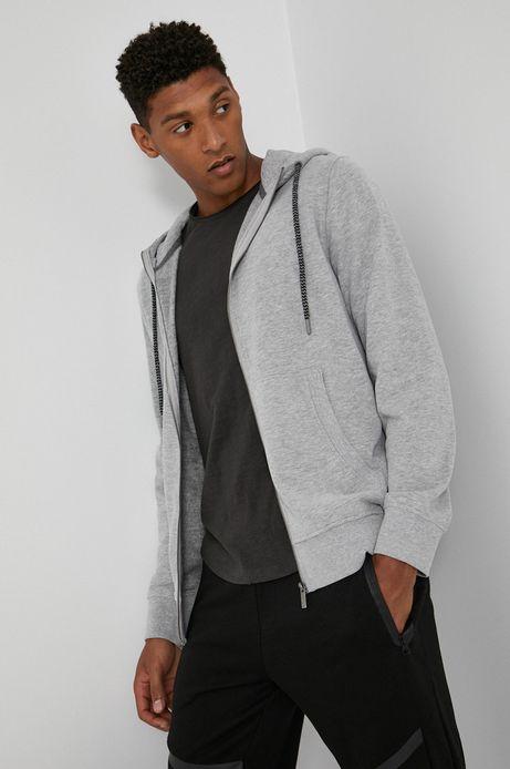 Bluza bawełniana męska szara