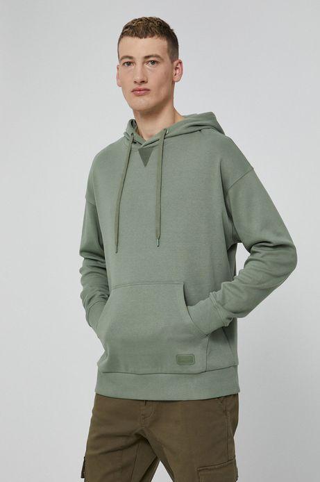 Bluza bawełniana męska zielona