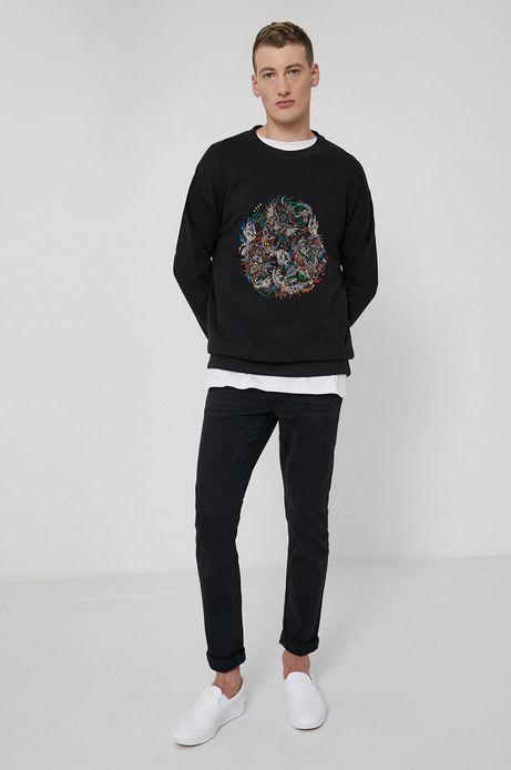 Bluza bawełniana męska Barong Mask czarna