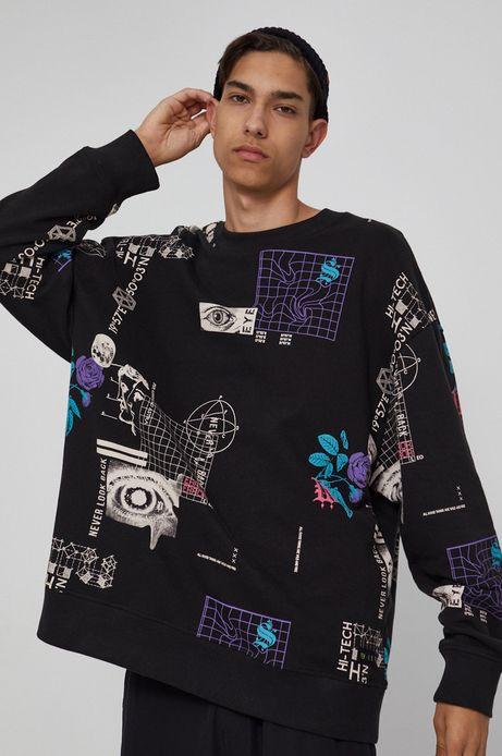 Bluza unisex z nadrukiem czarna