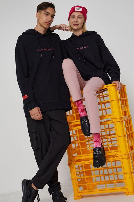 Bluza unisex bawełniana z nadrukiem czarna