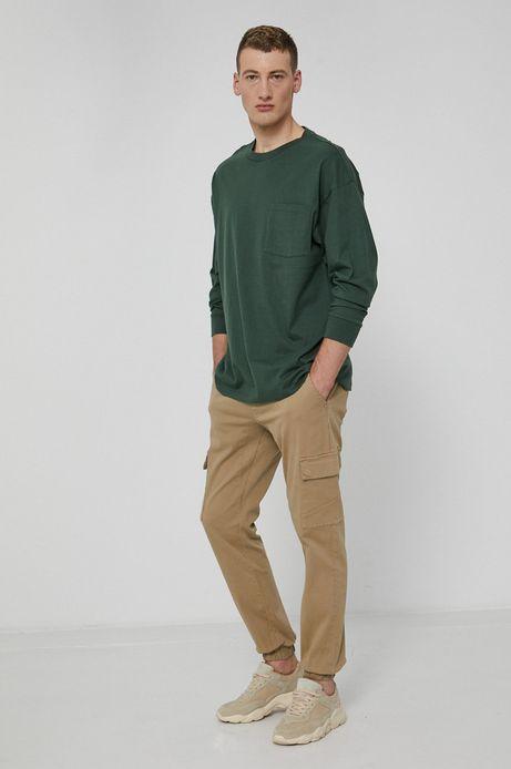 Longsleeve męski z bawełny organicznej zielony