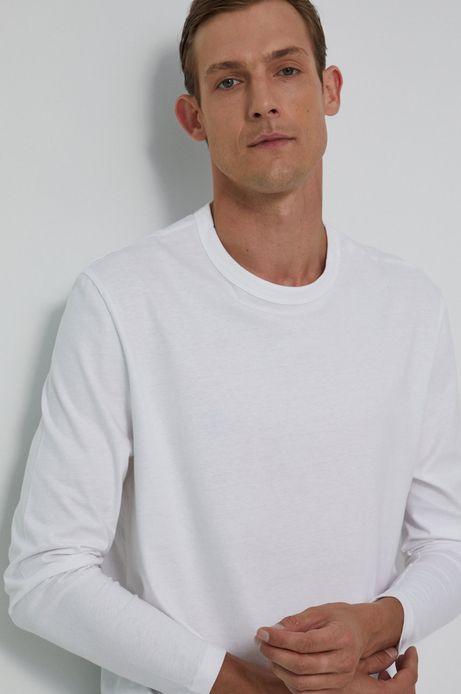 Longsleeve bawełniany biały