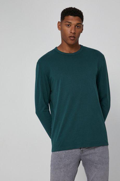 Longsleeve bawełniany zielony
