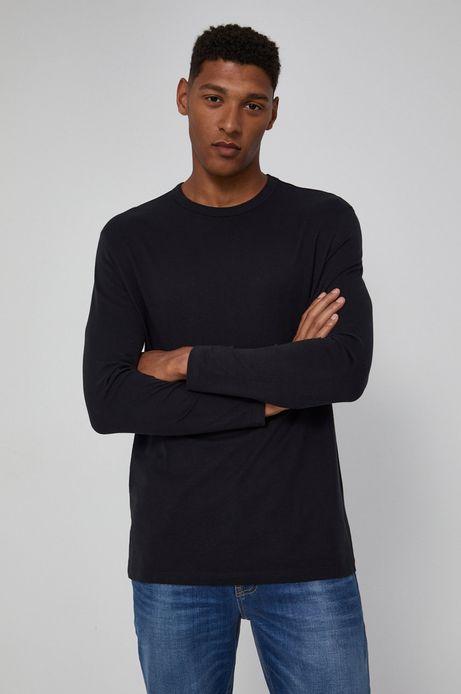 Longsleeve bawełniany czarny