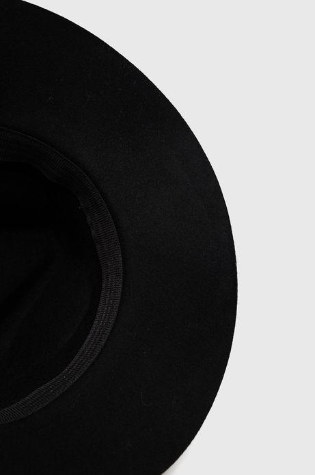 Wełniany kapelusz damski czarny