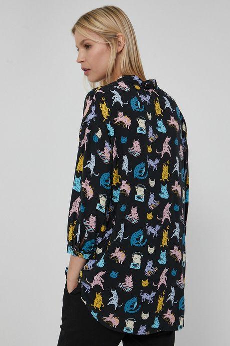 Koszula damska z wiskozy czarna