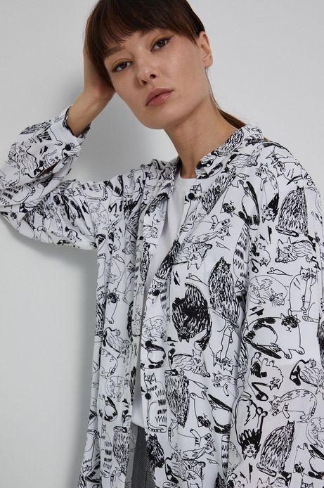 Koszula damska by Agnieszka Gajos, Grafika Polska biała