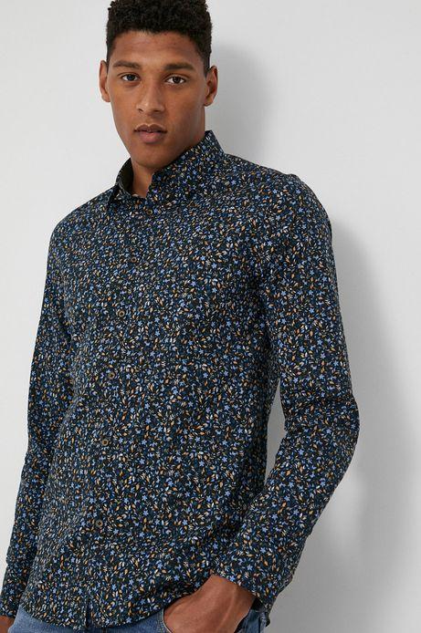 Koszula męska  w drobny wzór czarna