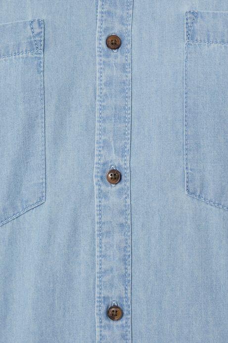 Koszula jeansowa męska niebieska