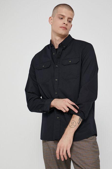 Koszula bawełniana męska czarna