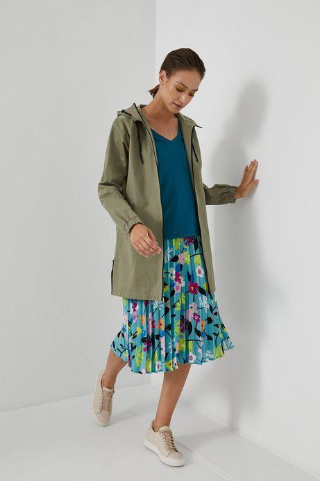 Płaszcz przeciwdeszczowy damski zielony
