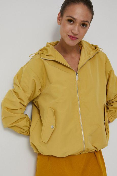 Krótka kurtka damska żółta