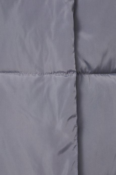Kurtka z pikowanego materiału damska niebieska