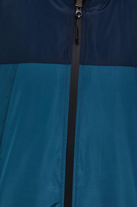 Kurtka męska z kapturem w bloki kolorów