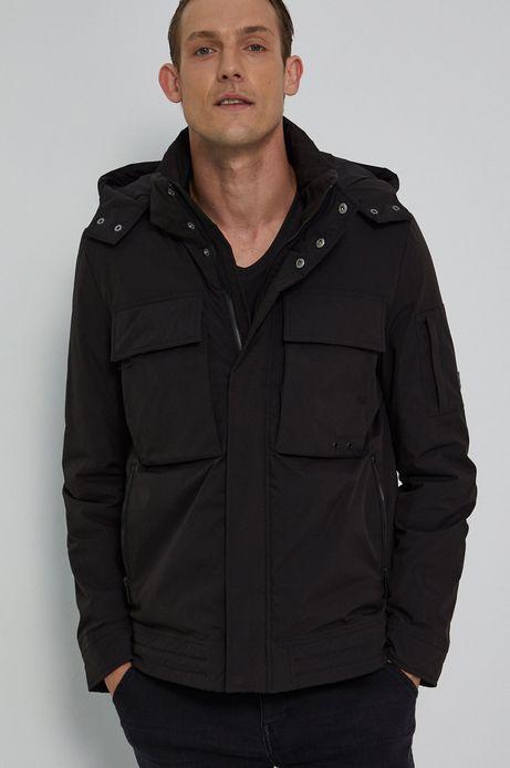 Krótka kurtka męska z lekkim ociepleniem czarna