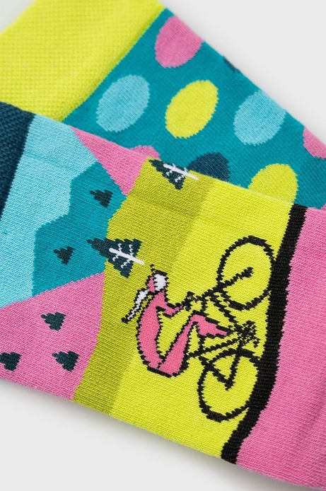 Skarpetki damskie z motywem rowerowym (2-pack)