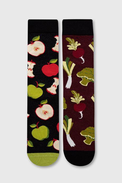 Skarpetki męskie w warzywa i owoce (2-pack)