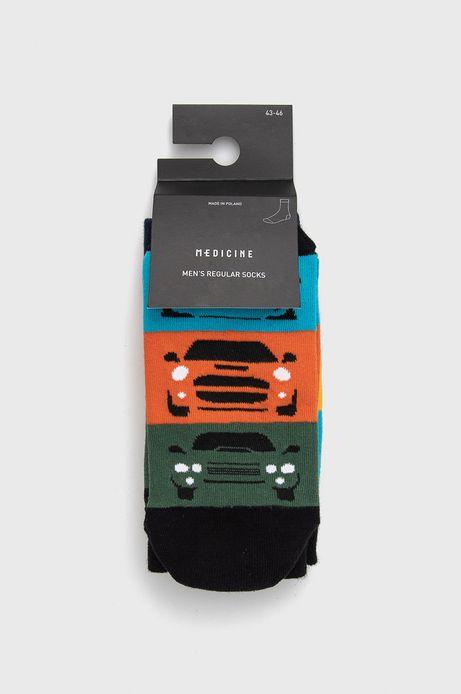 Skarpetki męskie w samochody  (2-pack)