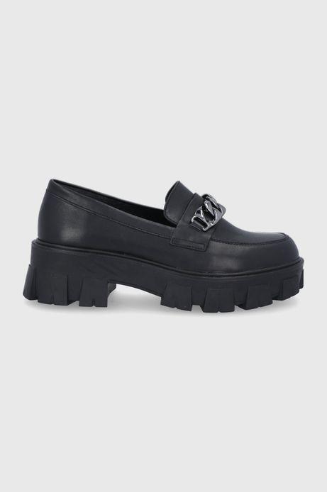 Buty damskie skórzane czarne