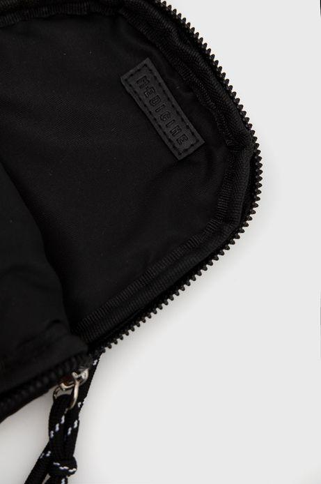 Torebka damska na telefon z funkcją portfela z dopinanym paskiem czarna