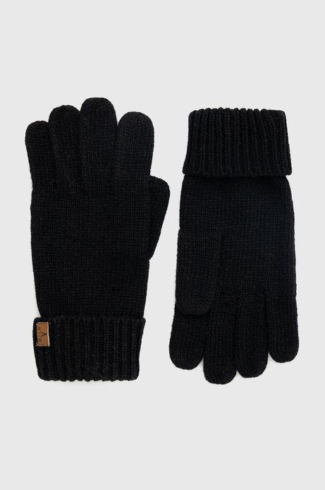 Rękawiczki z domieszką wełny męskie czarne