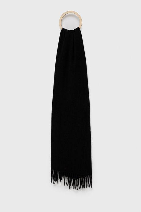 Szalik damski z frędzlami czarny