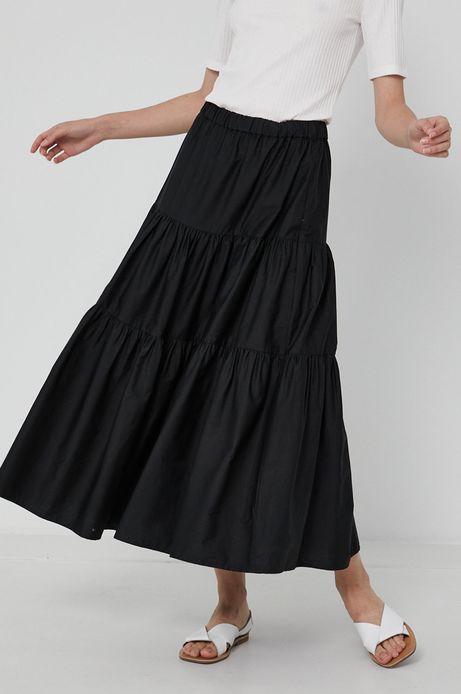 Spódnica damska z bawełną z recyklingu czarna