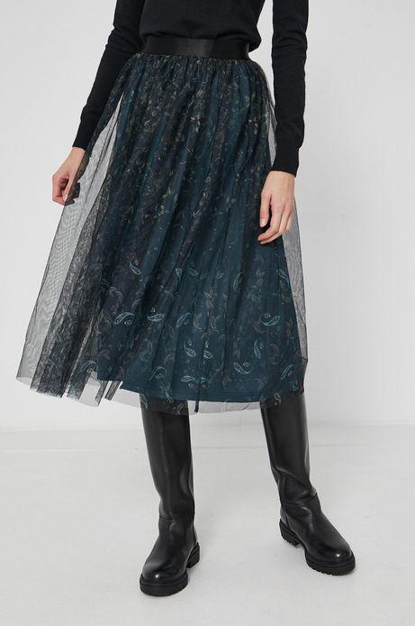 Spódnica damska z tiulowego materiału czarna