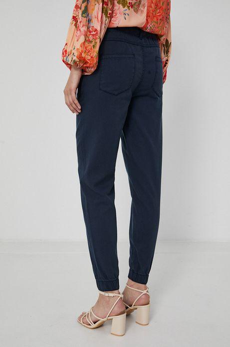 Spodnie damskie z lyocellu granatowe