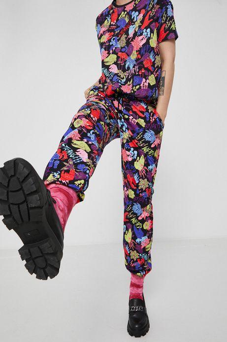 Spodnie damskie dresowe wzorzyste