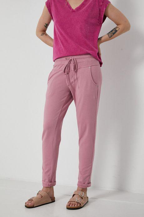 Spodnie damskie dresowe różowe