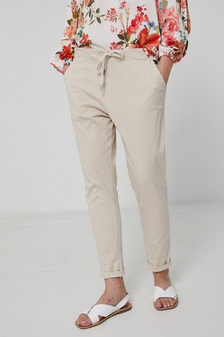 Spodnie damskie chino beżowe