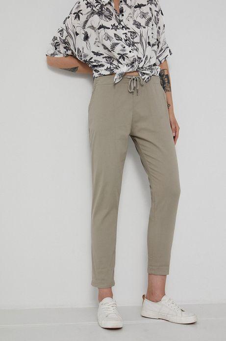 Spodnie damskie chino szare