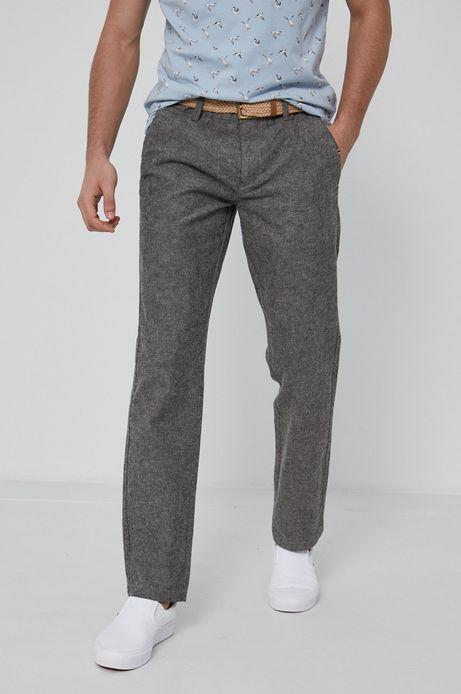 Spodnie męskie z lnu i bawełny organicznej szare