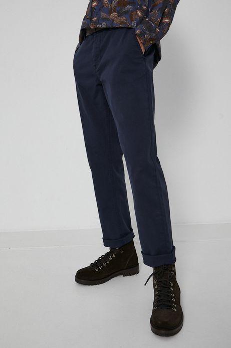 Spodnie męskie chino z paskiem granatowe