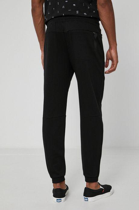 Dresowe spodnie męskie z bawełnianej dzianiny czarne