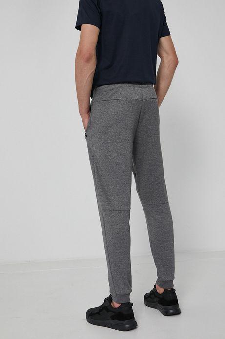 Dresowe spodnie męskie z bawełnianej dzianiny szare
