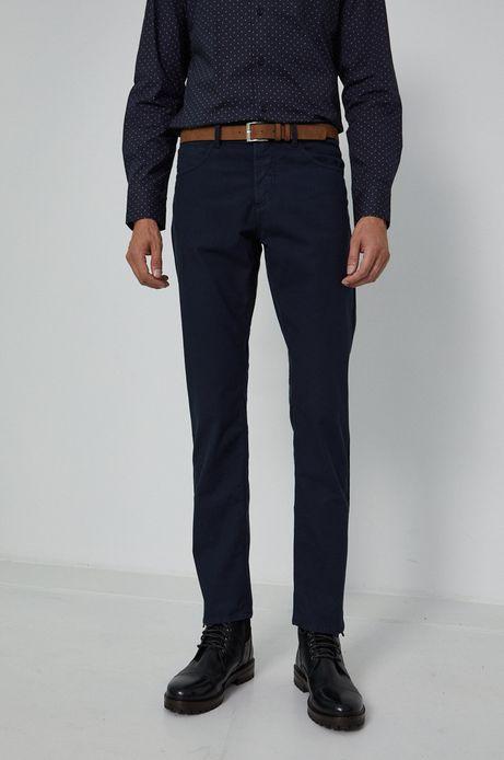 Spodnie męskie z paskiem granatowe