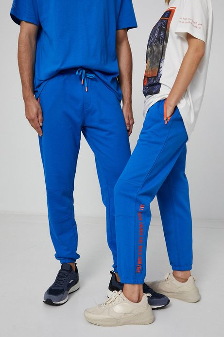 Spodnie dresowe unisex niebieskie