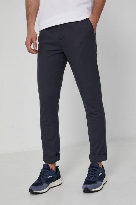 Spodnie z gładkiej tkaniny męskie szare