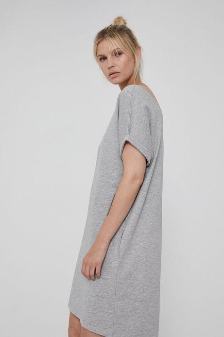 Sukienka bawełniana z krótkim rękawem szara
