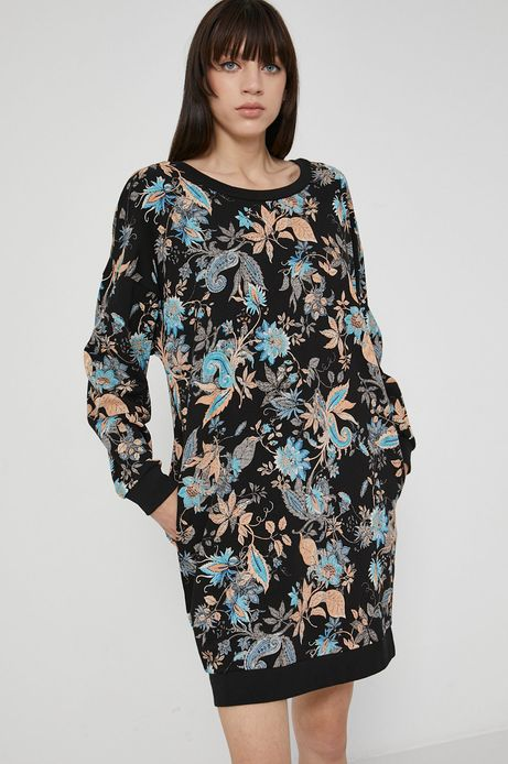 Sukienka bawełniana damska czarna