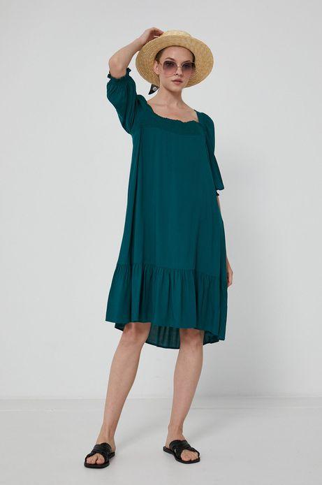 Sukienka damska z wiskozy zielona