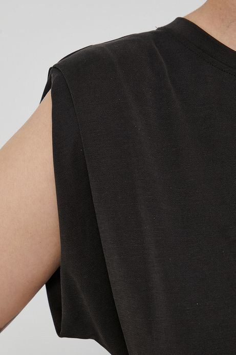 Sukienka damska z rozcięciem czarna