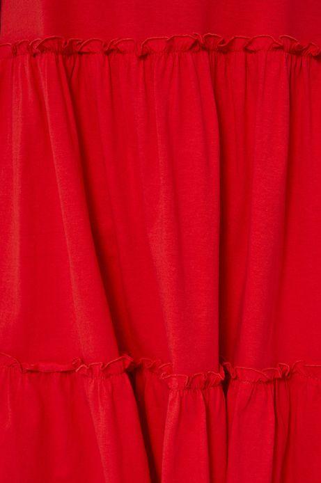 Sukienka damska z bawełny organicznej czerwona