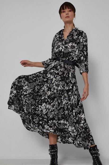 Sukienka damska z wiskozy w kwiatowy wzór
