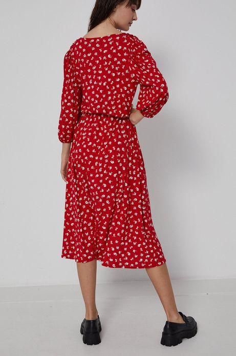 Sukienka damska z zakładanym dekoltem w kwiatowy wzór