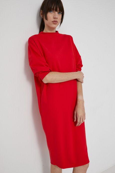 Sukienka gładka czerwona