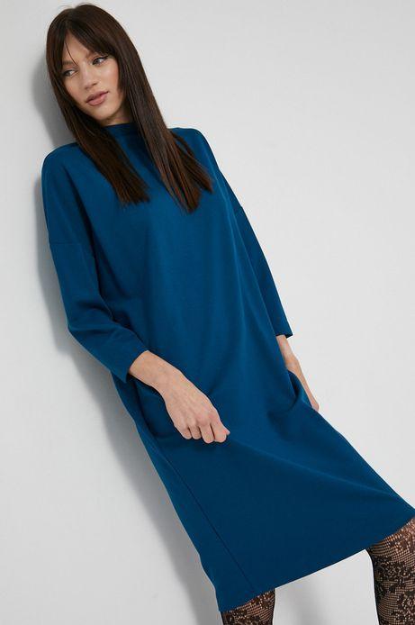 Sukienka gładka niebieska
